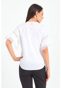 Bluzka TwinSet krótka, w koronkowe wzory