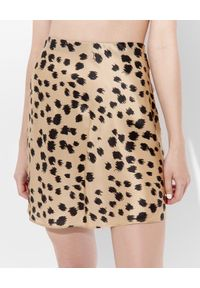 JENESEQUA - Jedwabna spódnica mini Kioto. Kolor: czarny. Materiał: jedwab. Wzór: nadruk. Sezon: lato