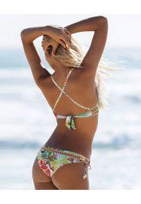 DEL MAAR - Dół od bikini Chica Bonita. Kolor: biały. Materiał: materiał. Wzór: kwiaty
