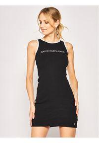 Czarna sukienka Calvin Klein Jeans prosta, casualowa, na co dzień