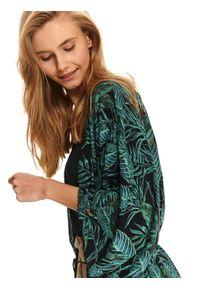 Zielony sweter TOP SECRET elegancki, krótki