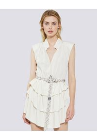 Biała sukienka mini IRO na lato