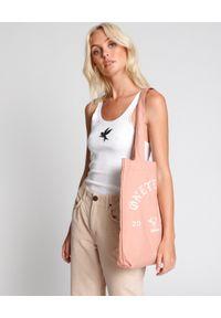 ONETEASPOON - Różowa torba Bower Bird. Kolor: wielokolorowy, różowy, fioletowy. Wzór: nadruk. Rodzaj torebki: na ramię