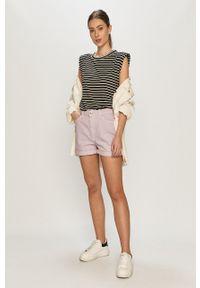 only - Only - Szorty jeansowe. Okazja: na co dzień. Kolor: fioletowy. Materiał: jeans. Styl: casual