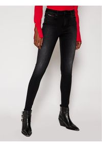 Tommy Jeans Jeansy Super Skinny Fit Sylvia DW0DW09003 Czarny Super Skinny Fit. Kolor: czarny