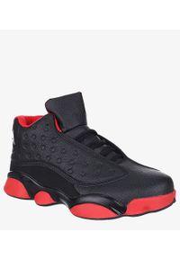 Casu - Czarne buty sportowe sznurowane casu 201j/br1. Kolor: czarny