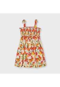 Sukienka Mayoral na co dzień, w kolorowe wzory, casualowa, prosta