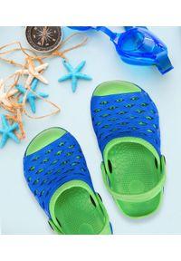 REALPAKS - Klapki dziecięce Realpaks SLD-07/1 Niebieskie. Okazja: na plażę. Kolor: niebieski. Materiał: tworzywo sztuczne. Styl: młodzieżowy