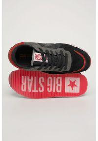 Czarne buty sportowe Big-Star na sznurówki, z cholewką