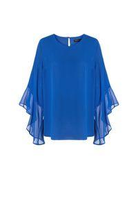 Niebieska bluzka Vito Vergelis na randkę, wizytowa