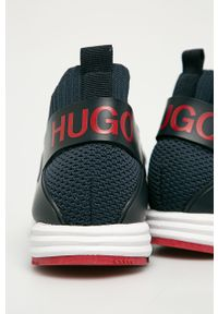 Niebieskie sneakersy Hugo z cholewką, z okrągłym noskiem #4