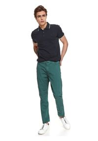 Zielone spodnie TOP SECRET gładkie
