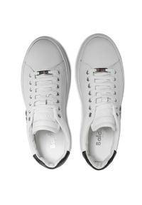Baldinini - Sneakersy BALDININI - 196322XVIVI9010XXKBX Bianco/Vitello. Okazja: na co dzień. Kolor: biały. Materiał: skóra. Szerokość cholewki: normalna. Styl: sportowy, klasyczny, elegancki, casual