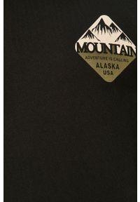 Czarna bluza nierozpinana PRODUKT by Jack & Jones z nadrukiem, bez kaptura