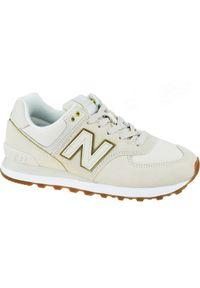 Beżowe buty sportowe New Balance z cholewką