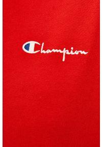 Champion - Sukienka. Kolor: czerwony. Materiał: dzianina. Wzór: gładki