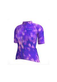 PARLÉ - Koszulka rowerowa damska PARLE fioletowa. Kolor: fioletowy. Materiał: materiał