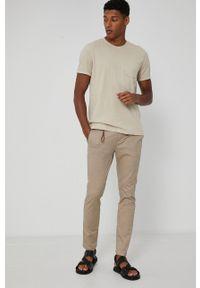 medicine - Medicine - T-shirt Basic. Kolor: beżowy. Materiał: bawełna, dzianina, włókno
