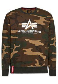 Alpha Industries Bluza Basic 178302C Zielony Regular Fit. Kolor: zielony
