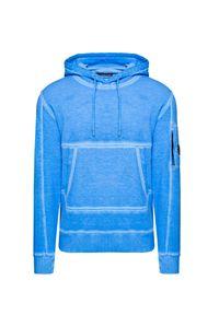 Niebieska bluza CP Company retro, z kapturem