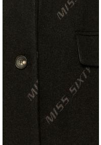 Czarny płaszcz Miss Sixty klasyczny, bez kaptura, na co dzień #8