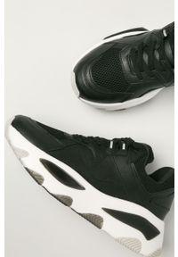 Czarne sneakersy Call It Spring na sznurówki, na obcasie, z cholewką