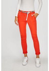 Pomarańczowe spodnie materiałowe ANSWEAR