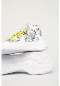 Białe buty sportowe Adidas by Stella McCartney Adidas Stella McCartney, z okrągłym noskiem, na obcasie, z cholewką