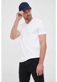 Hugo - T-shirt (2-pack). Kolor: biały. Materiał: dzianina. Wzór: gładki