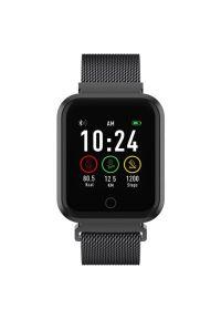 Czarny zegarek TFO smartwatch, elegancki