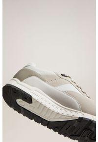 Białe buty sportowe Mango Man na sznurówki, z cholewką