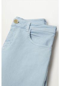 Niebieskie jeansy Mango Kids gładkie, z podwyższonym stanem #3