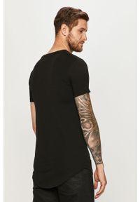 Czarny t-shirt Tom Tailor Denim casualowy, z okrągłym kołnierzem