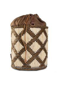 Beżowa torebka worek Nobo