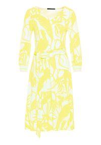 Laurèl Sukienka codzienna 11038 Żółty Regular Fit. Okazja: na co dzień. Kolor: żółty. Typ sukienki: proste. Styl: casual