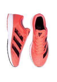 Różowe buty do biegania Adidas z cholewką