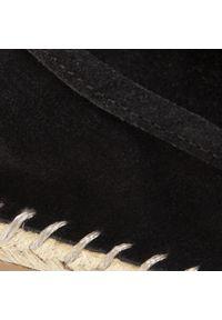 Czarne półbuty Sergio Bardi z cholewką, na płaskiej podeszwie