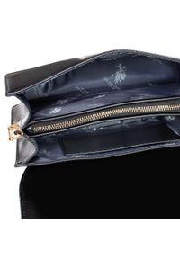 U.S. Polo Assn - Torebka U.S. POLO ASSN. - Berkeley Hor. Flap Bag BIUKB4874WVP/005 Black/Black. Kolor: czarny. Materiał: skórzane