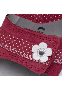 Superfit - Sandały SUPERFIT - 6-09019-50 Rot. Kolor: czerwony. Materiał: skóra, zamsz. Wzór: aplikacja