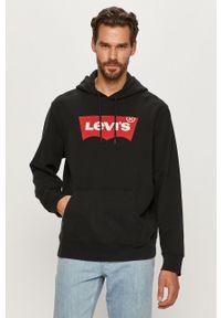 Czarna bluza nierozpinana Levi's® biznesowa, z kapturem