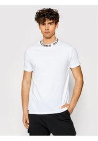 Biały t-shirt Alpha Industries z nadrukiem