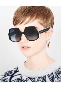 Czarne okulary przeciwsłoneczne Dior w gradientowe wzory