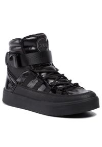 Colmar - Sneakersy COLMAR - Evie Gloss 154 Black. Okazja: na co dzień. Kolor: czarny. Materiał: skóra ekologiczna, materiał. Szerokość cholewki: normalna. Styl: casual