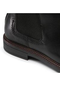 Czarne buty zimowe Salamander klasyczne, z cholewką