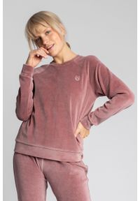 Różowa piżama MOE z haftami