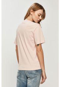 Różowa bluzka Lacoste gładkie, casualowa, na co dzień