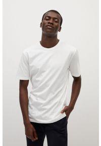 Biały t-shirt Mango Man na co dzień, casualowy