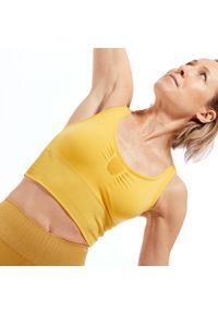 KIMJALY - Stanik do jogi dynamicznej Kimjaly. Materiał: skóra, materiał. Rodzaj stanika: wyciągane miseczki. Sport: joga i pilates