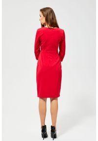 Sukienka MOODO z asymetrycznym kołnierzem, asymetryczna, elegancka