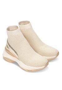 Złote buty sportowe FOREVERFOLIE w kolorowe wzory, bez zapięcia